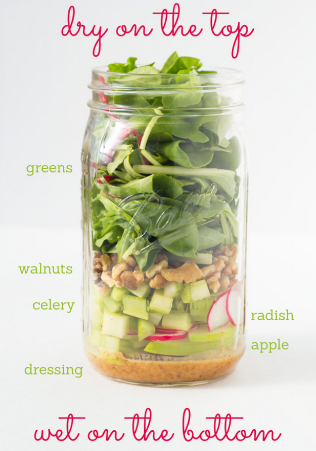 mason jar salad guide