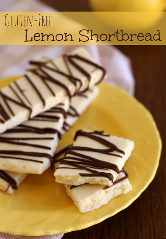 Gluten Free Lemon Shortbread