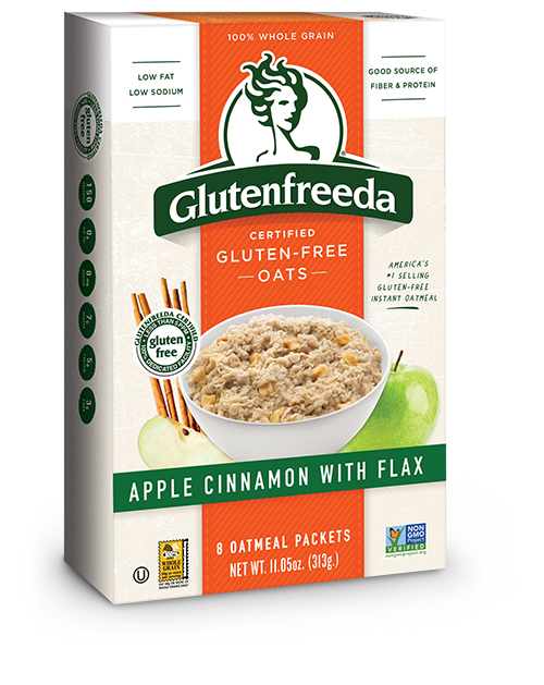Apple Cinnamon with flax gluten-free oatmeal